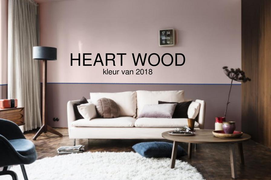 Kleur van het jaar 2018 heart wood - Kleur kamer volwassen foto ...